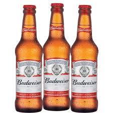 3 (três) unidades Budweiser 330ML