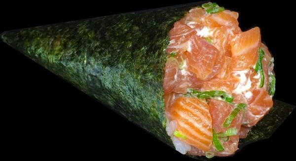 68p - temaki de salmão (PROMOÇÂO POR TEMPO LIMITADO)