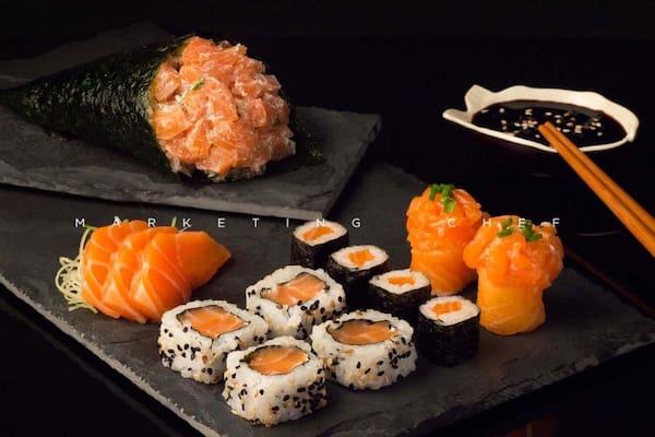 603 - combo sushis e temaki (14 unid) !!! NOVO !!!
