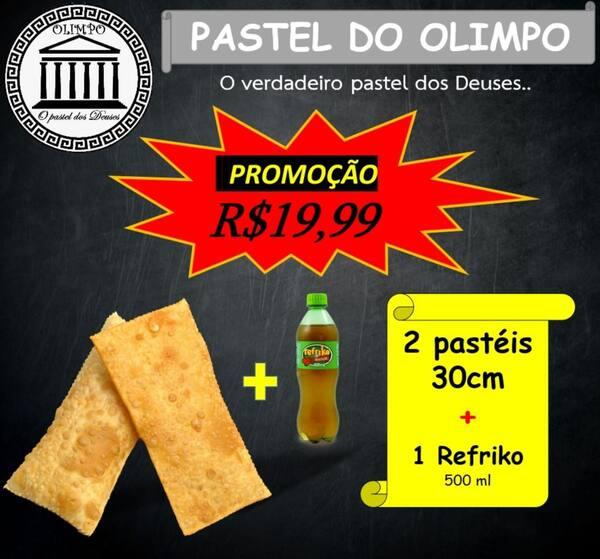 2 pasteis + refrigerante 500ml