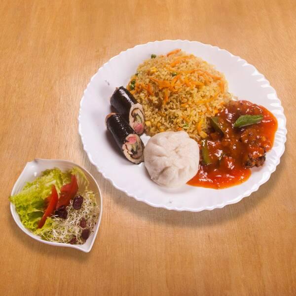 Yakimeshi (arroz integral)