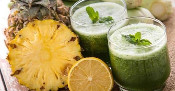 Suco Detox de Abacaxi Com limão 500ml