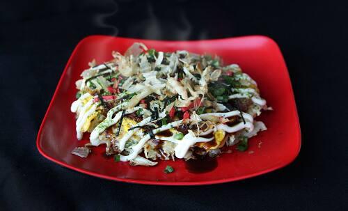Okonomiyaki de camarão