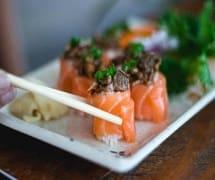 Dyo de salmão com shimeji 4 unidades