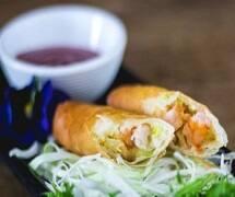 Harumaki de camarão