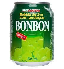133- suco de uva verde com pedaços bonbon