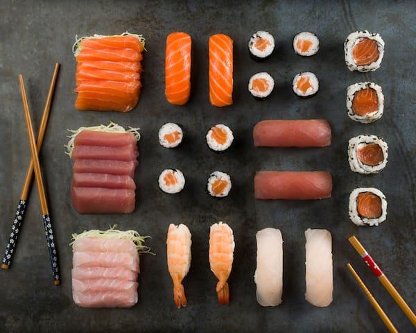 C95 - combo com sashimi mix (2 pessoas) - 38 unidades