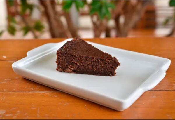 Brownie de chocolate meio amargo