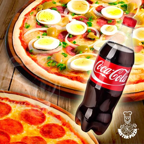 2 pizzas grande + refri 1, 5l