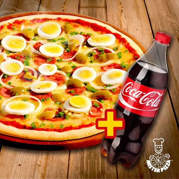 Mister pizza - combo grande + bebida