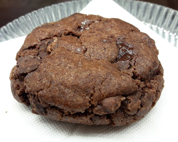 Cookie de chocolate e flor de sal