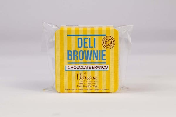Brownie de chocolate branco - deliceria
