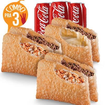 Super combo - 6 pastéis + 3 refris