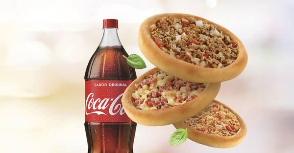 Promoção compre 20 leve 25 esfihas (carne/ calabresa com mussarela ou frango) + refrigerante 2l ou suco 1l