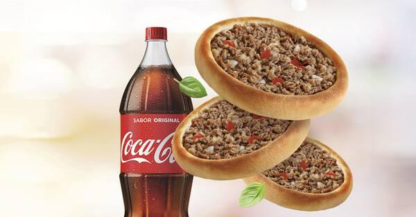 Promoção compre 20 leve 25 esfihas (picanha ou cordeiro) + refrigerante 2l ou suco 1l