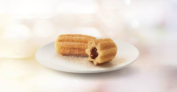 Minichurros de chocolate com avelã