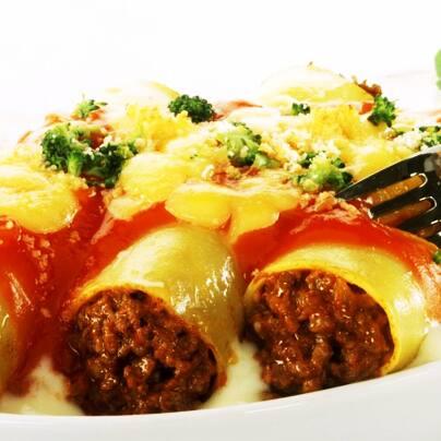 Combo cannelloni à bolonhesa vegano