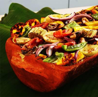 Combo legumes assados na telha ao perfume de alecrim