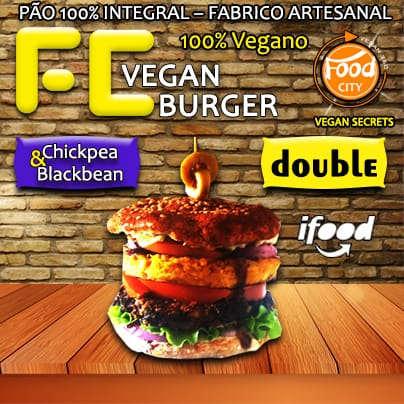 Combo fc vegan burger - double