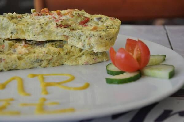 Omelete veggie