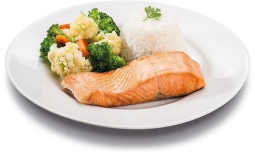 Kero salmão c/ legumes sauté - executivo