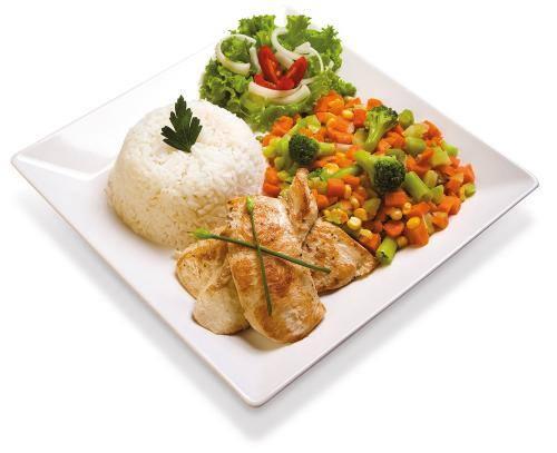 Frango grelhado com legumes - dia a dia