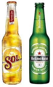 Cerveja long neck Sol 330 ml