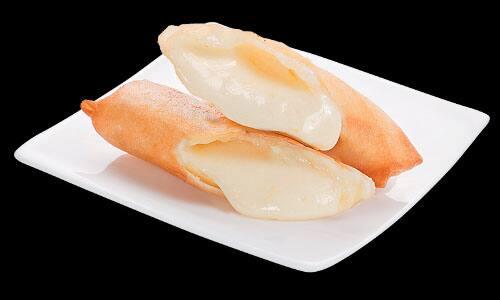 Rolinho primavera de queijo