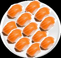 Niguiri salmão (12 unidades)