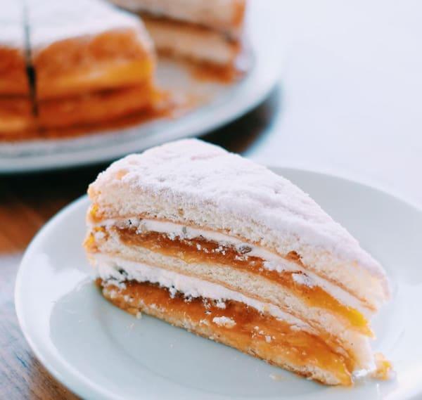 Torta bem casado de damasco