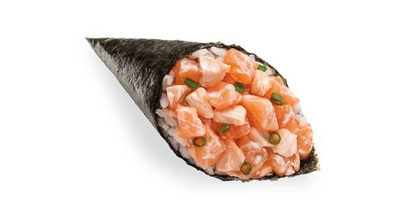 Temaki misto de salmão