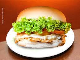 X-salada de file de frango