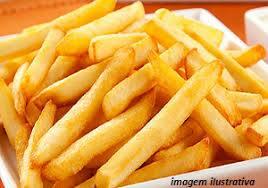 Batata frita para duas pessoas