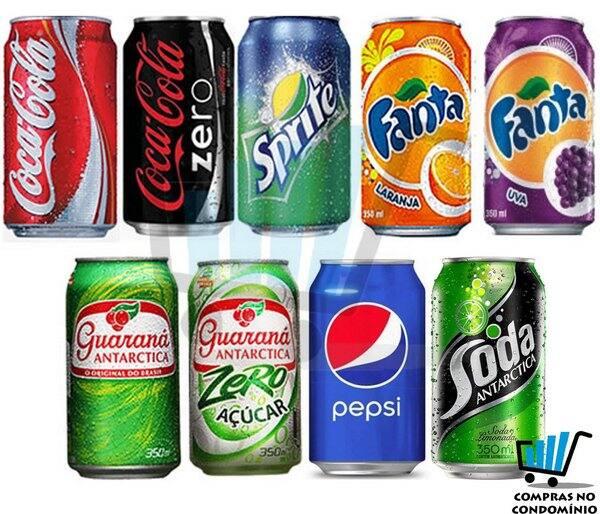 Refrigerante - lata  350 ml