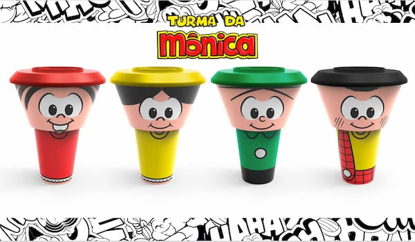 Kit bowl turma da monica