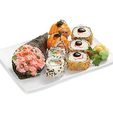 Sushi temaki hot