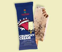 Caixa  com 12 paleta de 110g - crunchy cream