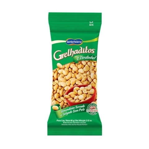 Amendoim torrado e salgado sem pele