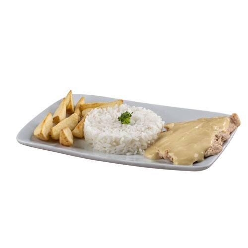 Prato frango ao molho mostarda e mel