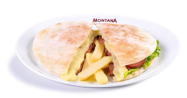 Beirute de calabresa com exclusivas fritas montana