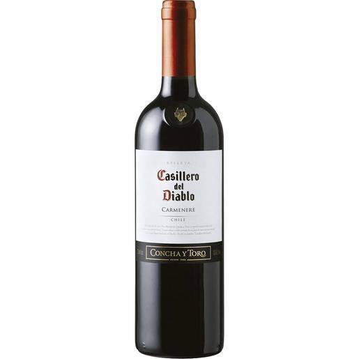 Vinho chileno casillero del diablo carmenere