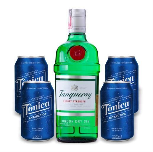 Combo gin Tanqueray + 4 água tônicas