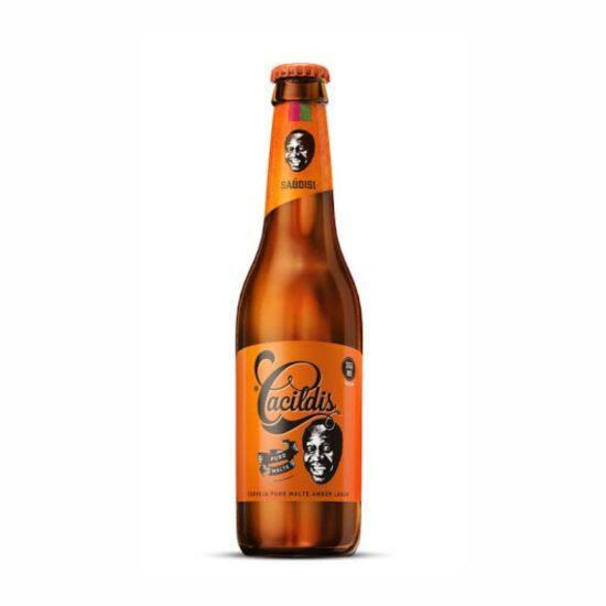 Cerveja cacildis puro malte long neck 355ml gelada