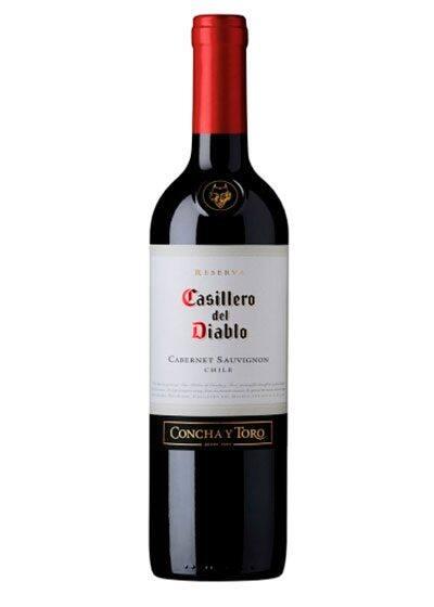 Vinho chileno casillero del diablo carbenet sauvignon
