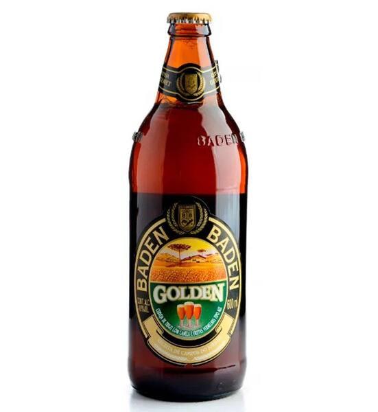 Cerveja brasileira Baden Baden golden 600ml gelada