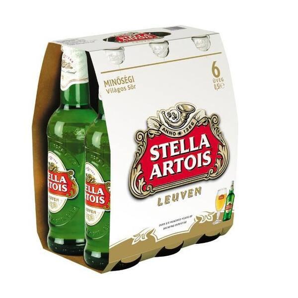 Pack cerveja Stella Artois gelada 275ml