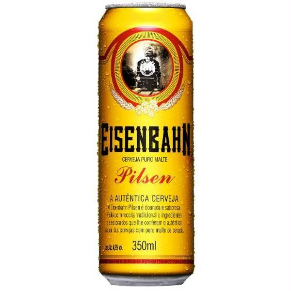Cerveja Eisenbahn puro malte pilsen lata 350ml gelada