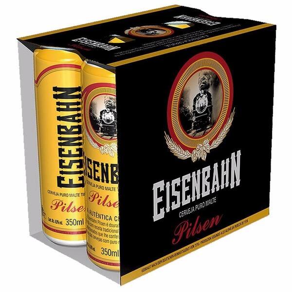 Pack cerveja Eisenbahn puro malte pilsen lata 350ml