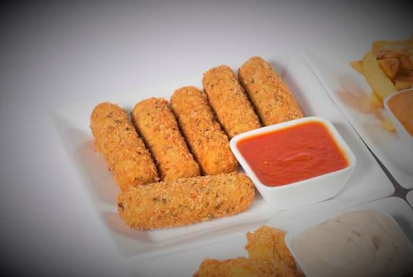 Half Mozzarella sticks