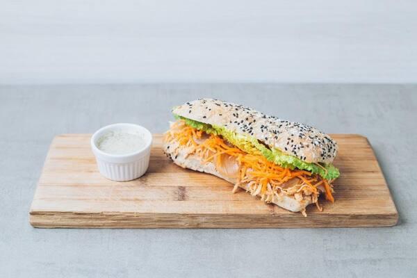 Sanduíche frango com gorgonzola